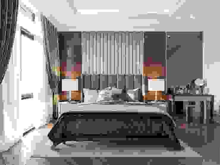 Thiết kế nội thất biệt thự phong cách Tân Cổ Điển sang trọng đẳng cấp Phòng ngủ phong cách kinh điển bởi ICON INTERIOR Kinh điển