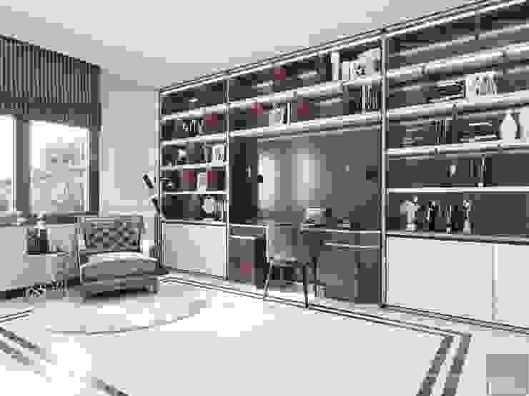 Thiết kế nội thất biệt thự phong cách Tân Cổ Điển sang trọng đẳng cấp Phòng học/văn phòng phong cách kinh điển bởi ICON INTERIOR Kinh điển