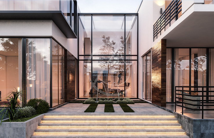 Contemporary Modern House Design Modern Terrace by Comelite Architecture, Structure and Interior Design Modern