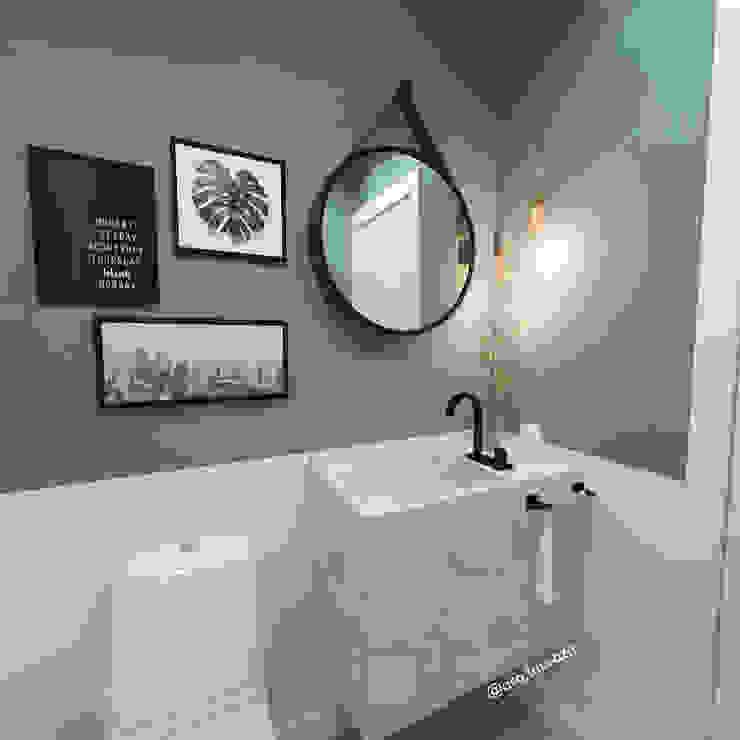 Lavabo - CL Banheiros modernos por Arquiteta Laura Zanatta Martins Moderno Mármore