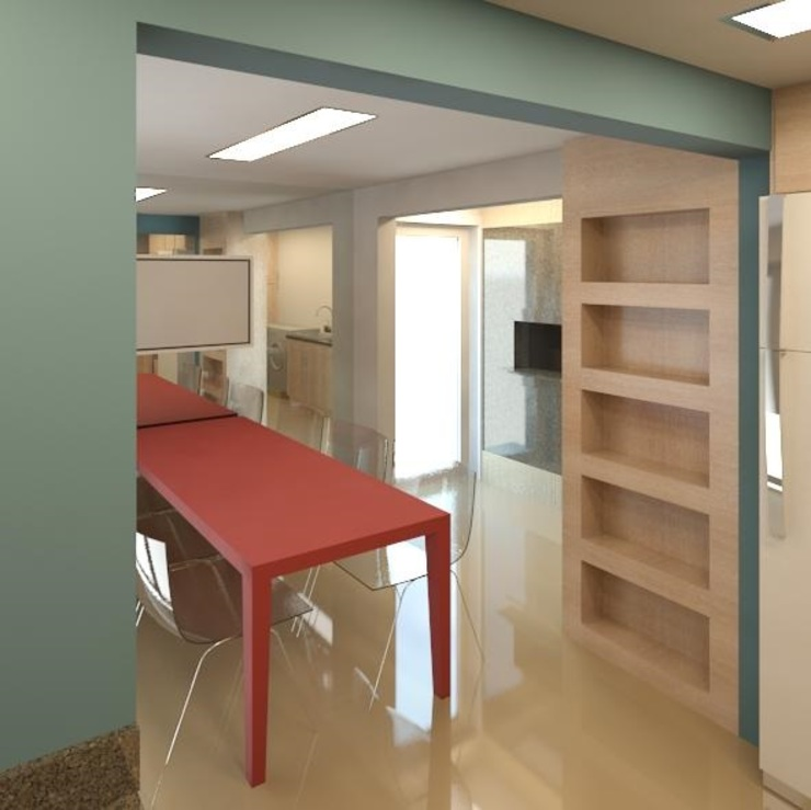 Grupo DH arquitetura Modern style kitchen