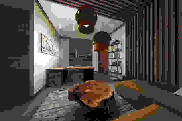 Мария Остроумова Oficinas de estilo minimalista Madera Gris