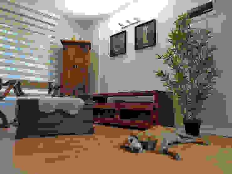 Estar y Comedor Lagom Studio Livings de estilo moderno Acabado en madera