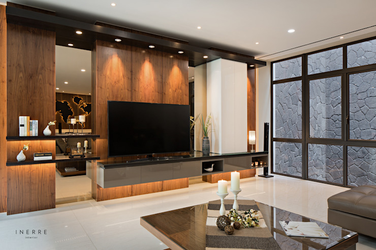 Modern living room by INERRE Interior Modern Wood Wood effect