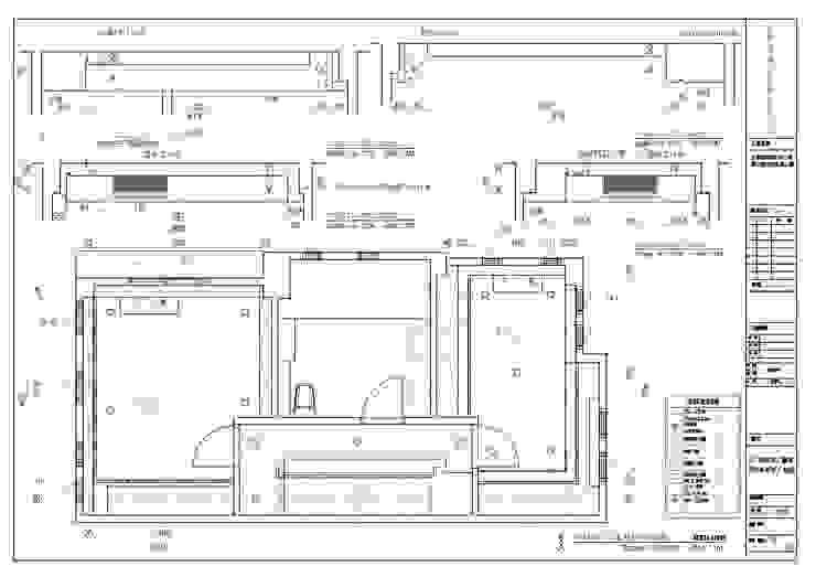 4層天花板平面圖: 不拘一格  by houseda, 隨意取材風