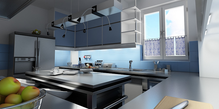 Kitchen, Eng. H. Ezzat, Alexandria, Egypt by ADAWY architects Modern