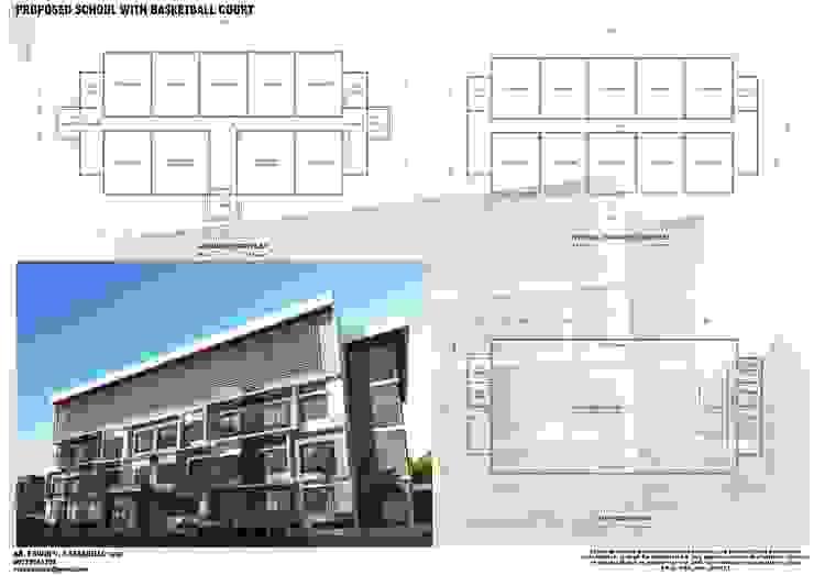 School building by E.V.Casbadillo Arquitectura Modern Reinforced concrete