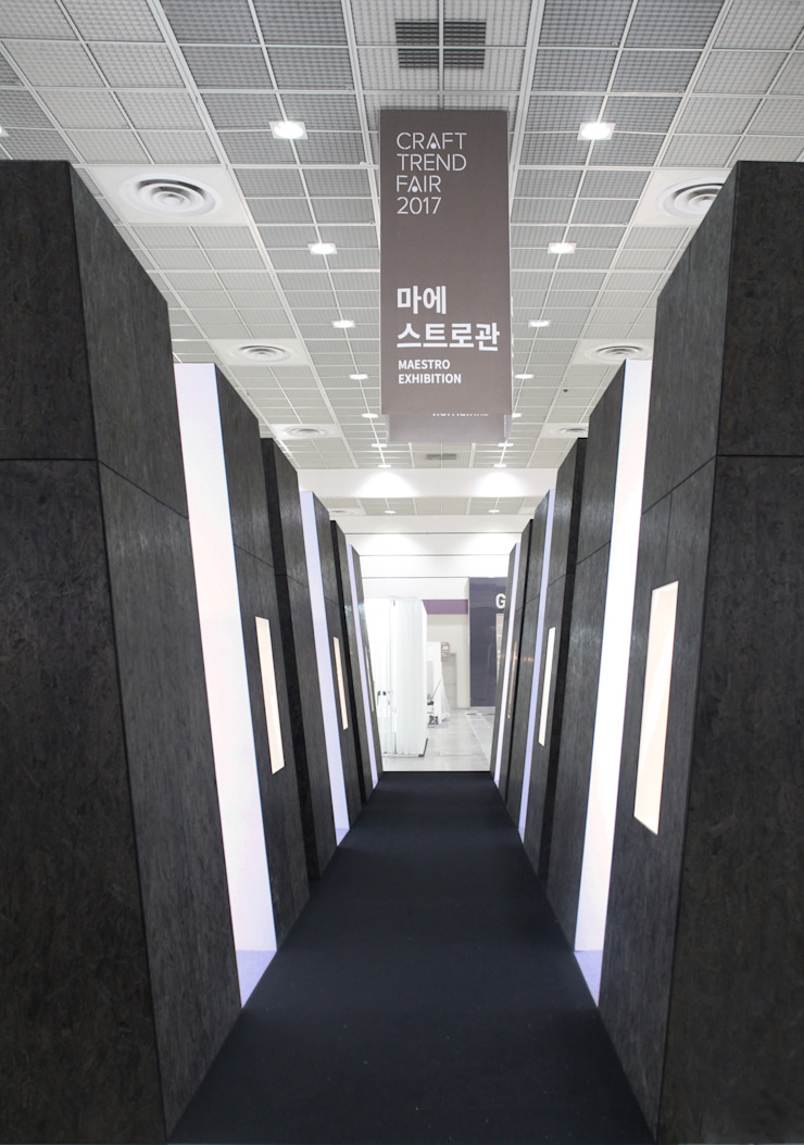 2017 공예트렌드페어 마에스트로 관 미니멀리스트 스타일 전시장 by 폴앤블랭크 미니멀