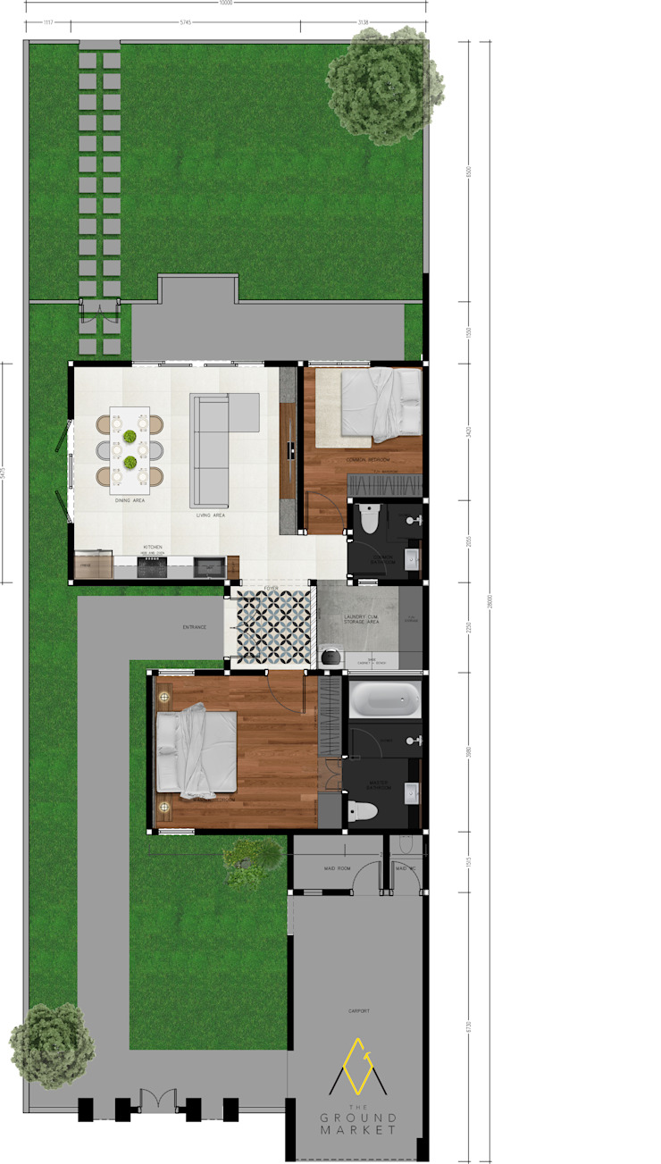House Layout:modern  oleh The Ground Market, Modern