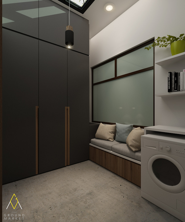Laundry and Storage Area:modern  oleh The Ground Market, Modern