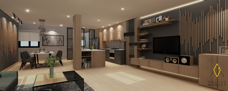 Living Dining Kitchen Oleh The Ground Market