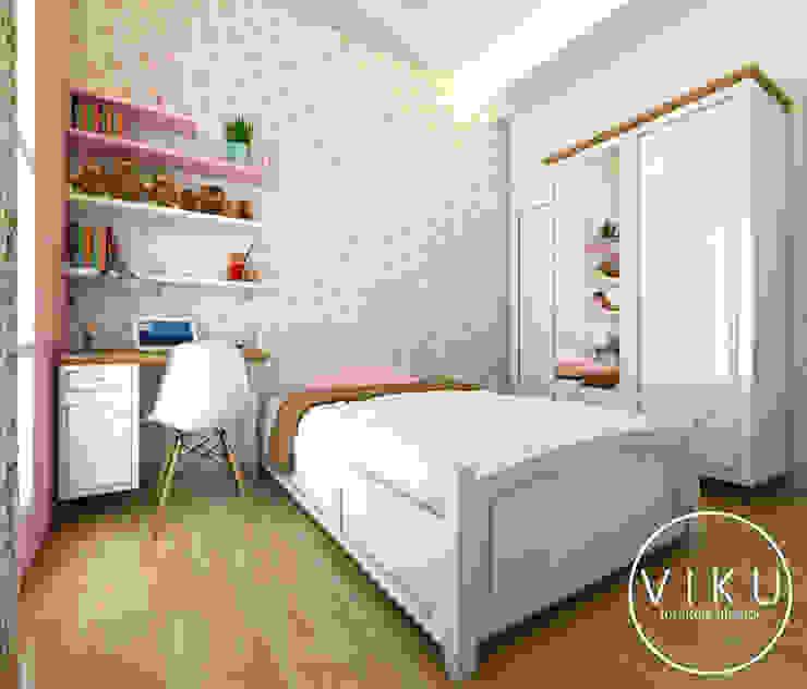 Bed room / Kamar tidur Oleh viku Skandinavia Kayu Wood effect