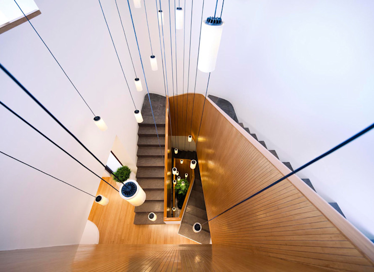by AGi architects arquitectos y diseñadores en Madrid Minimalist Wood Wood effect