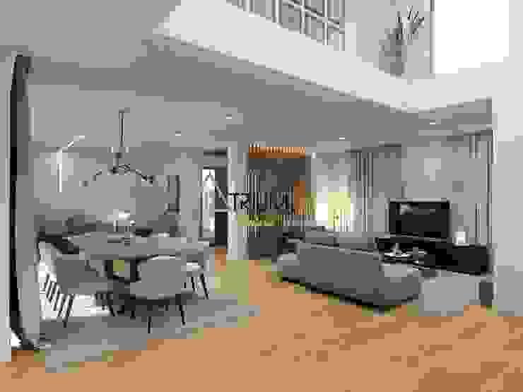 Modern living room by Atrium Projetos e Construção Modern