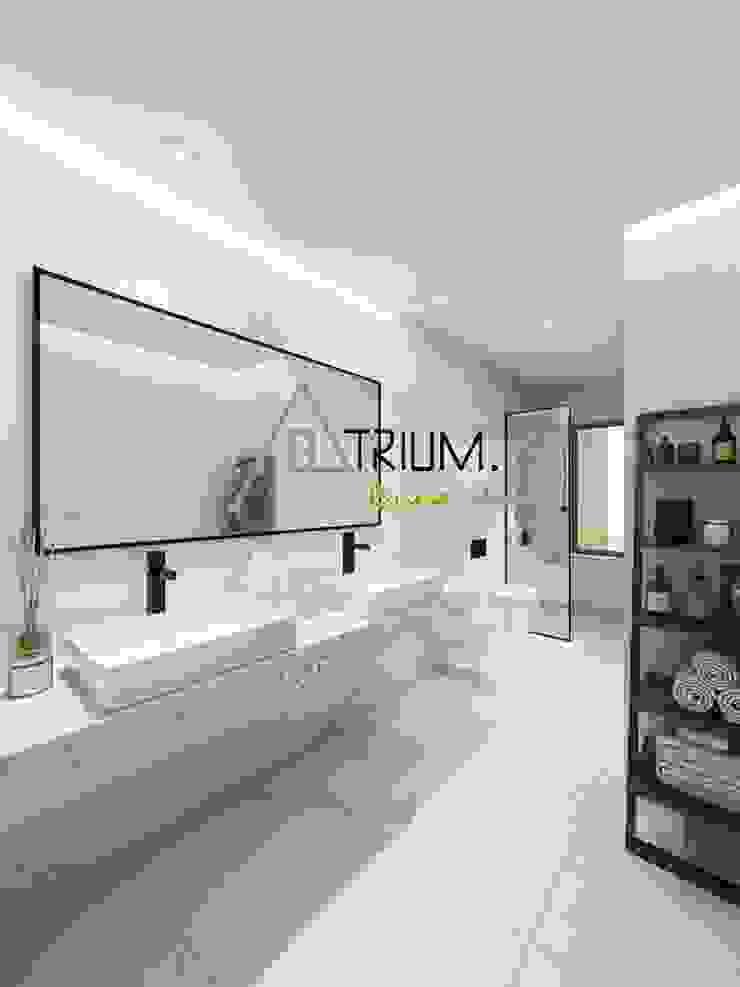 Single house—Cascais Modern bathroom by Atrium Projetos e Construção Modern