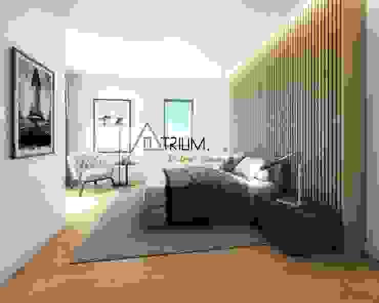 Single house—Cascais Modern style bedroom by Atrium Projetos e Construção Modern
