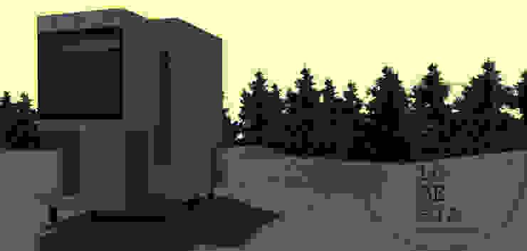 Diseño de Cabaña Monardes por Lobería Arquitectura de Loberia Arquitectura Mediterráneo
