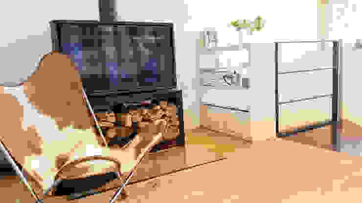 Regal als Absturzsicherung von gondesen architekt Skandinavisch Holz Holznachbildung