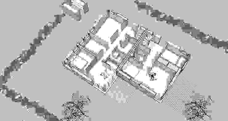 Isometrie Erdgeschoss: modern  von gondesen architekt,Modern