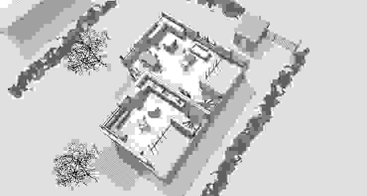 Isometrie Obergeschoss: modern  von gondesen architekt,Modern