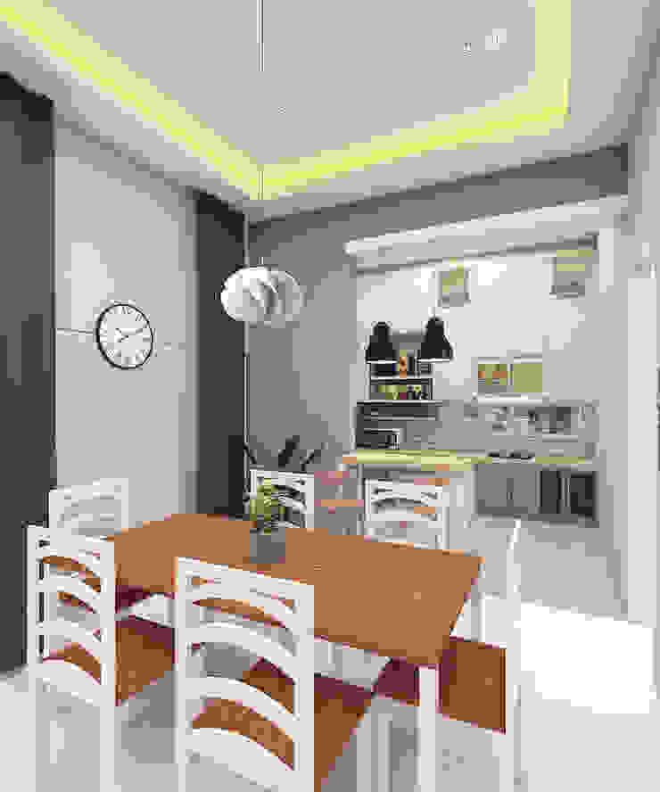 Scandinavian style dining room by CASA.ID ARCHITECTS Scandinavian Wood Wood effect