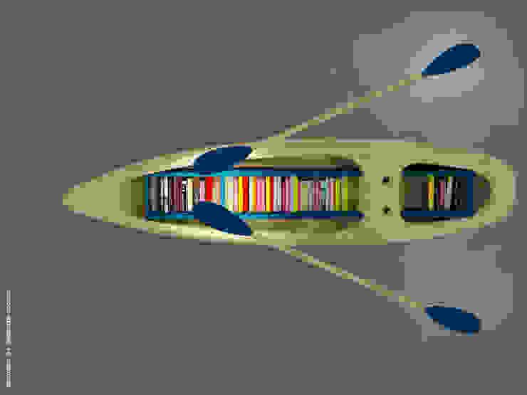 Kayak bookshelf: modern  by Preetham  Interior Designer,Modern Wood Wood effect
