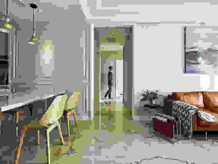 人類的渺小 斯堪的納維亞風格的走廊,走廊和樓梯 根據 耀昀創意設計有限公司/Alfonso Ideas 北歐風