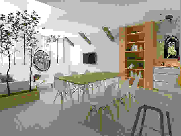 Living room Scandinavian style living room by Singapore Carpentry Interior Design Pte Ltd Scandinavian