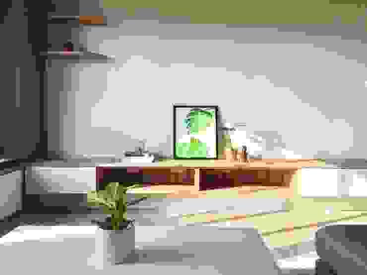 木質風格的舒適感 根據 圓方空間設計 北歐風 合板