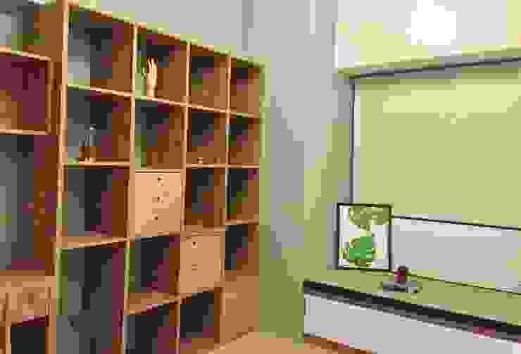 書房與客房的結合 根據 圓方空間設計 北歐風 合板