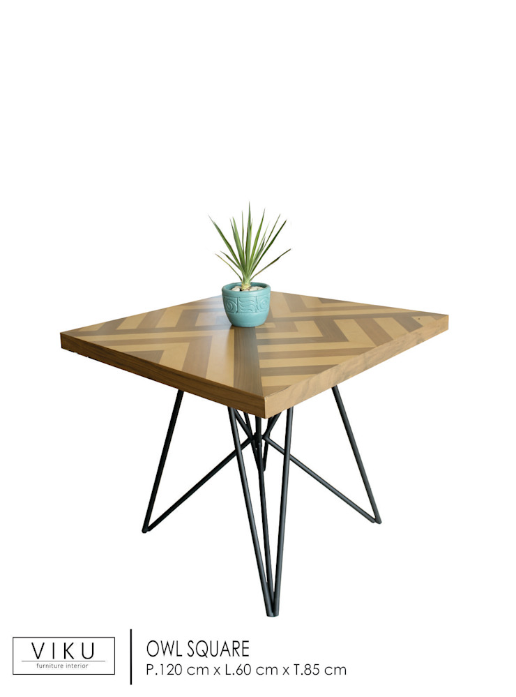 viku Dining roomTables Plywood Brown