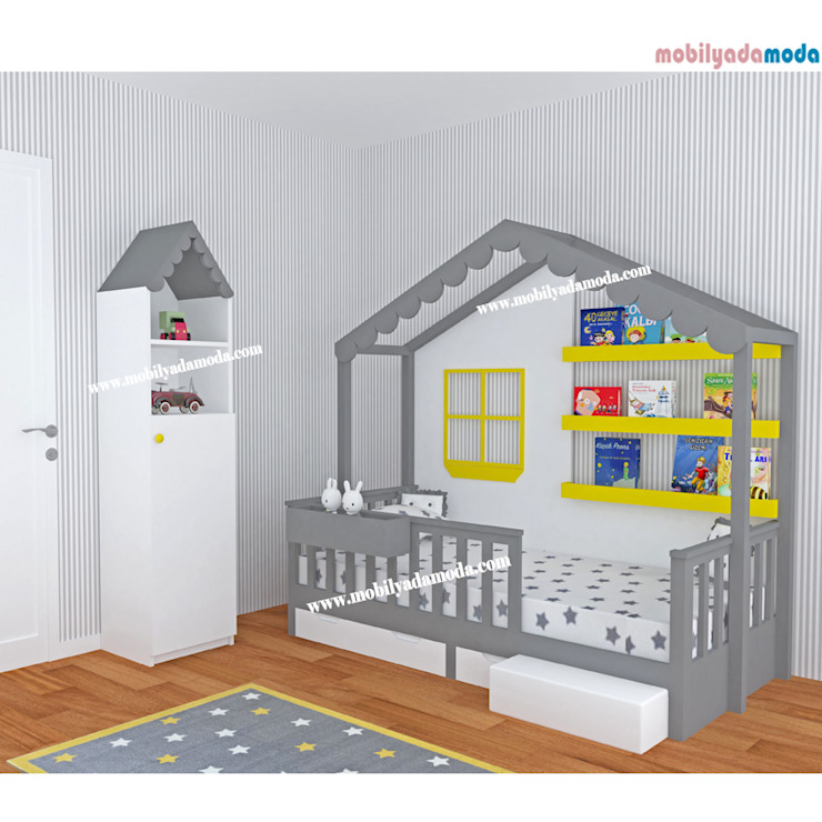 Özel Tasarım Çocuk Odası MOBİLYADA MODA Modern Ahşap Ahşap rengi