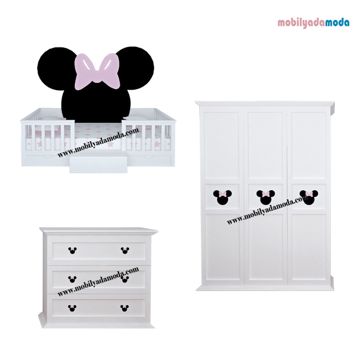 Minnie Mouse Konsept Çocuk Odası MOBİLYADA MODA Modern Ahşap Ahşap rengi