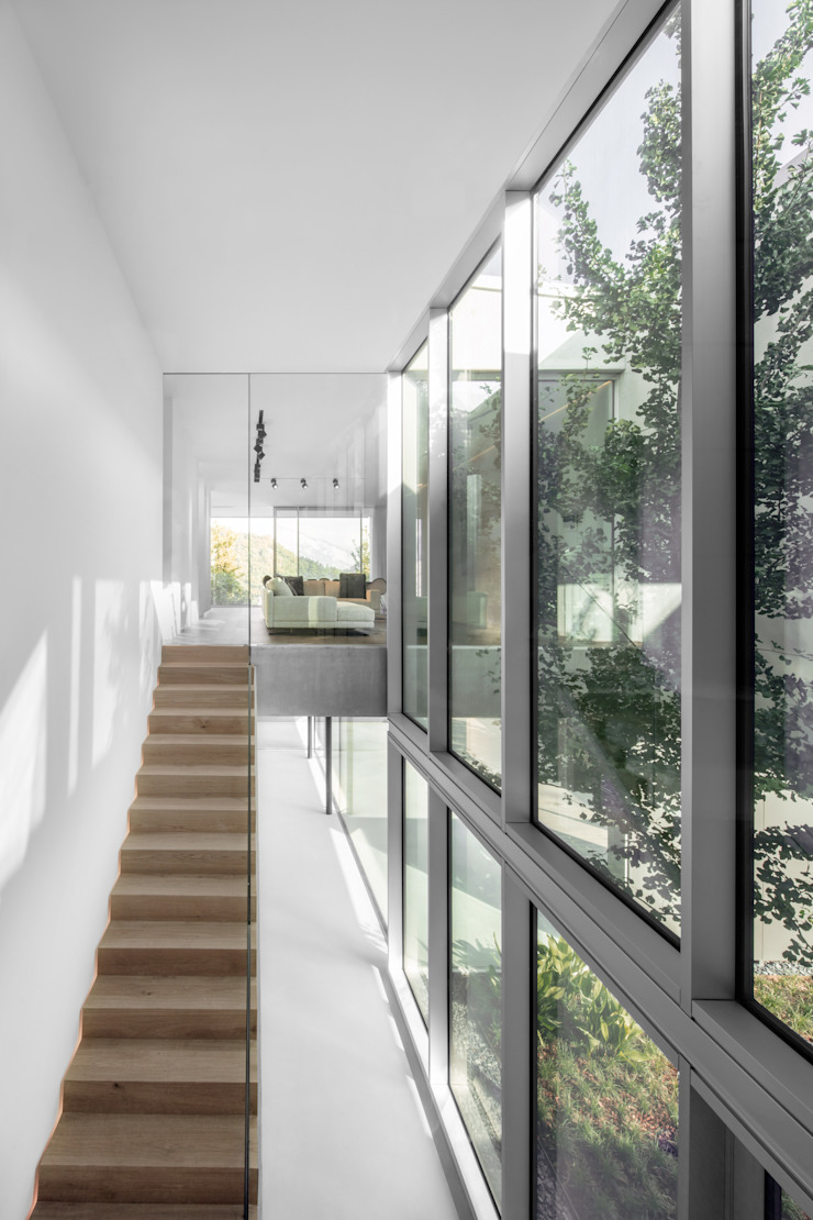 raro Modern corridor, hallway & stairs