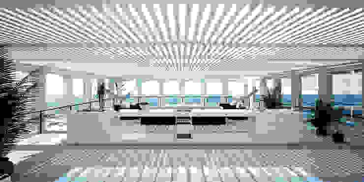 Casa en la Honda ARCHITECTS Balcones y terrazas minimalistas