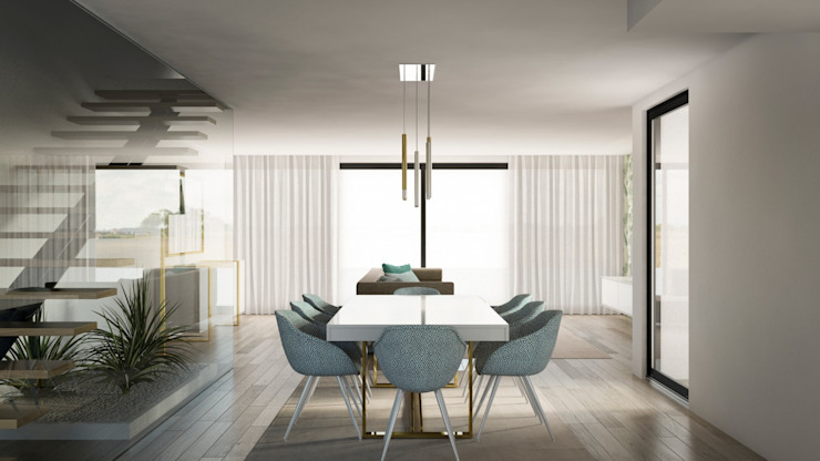 Sala de jantar Alma Braguesa Furniture Salas de jantar ecléticas MDF Branco