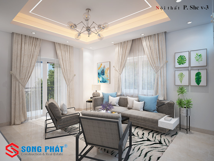根據 Công ty Thiết Kế Xây Dựng Song Phát 現代風