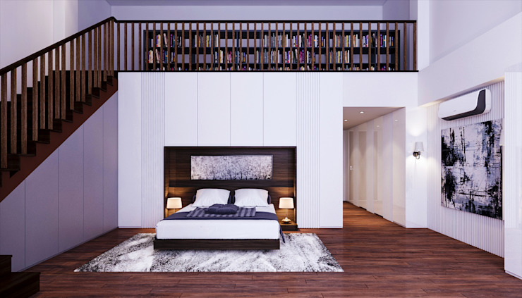 Transitional Style at Thomson Terrace Modern style bedroom by Singapore Carpentry Interior Design Pte Ltd Modern
