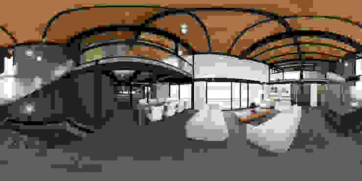 Industrial style living room by Arq. Rodrigo Culebro Sánchez Industrial