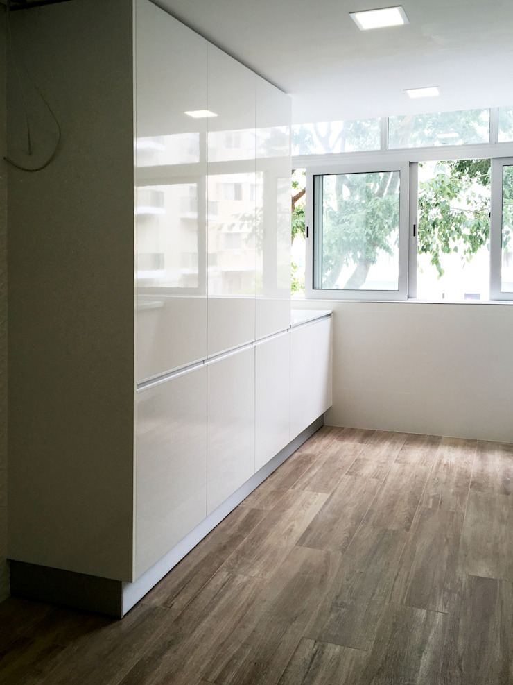 現代廚房設計點子、靈感&圖片 根據 GAAPE - ARQUITECTURA, PLANEAMENTO E ENGENHARIA, LDA 現代風