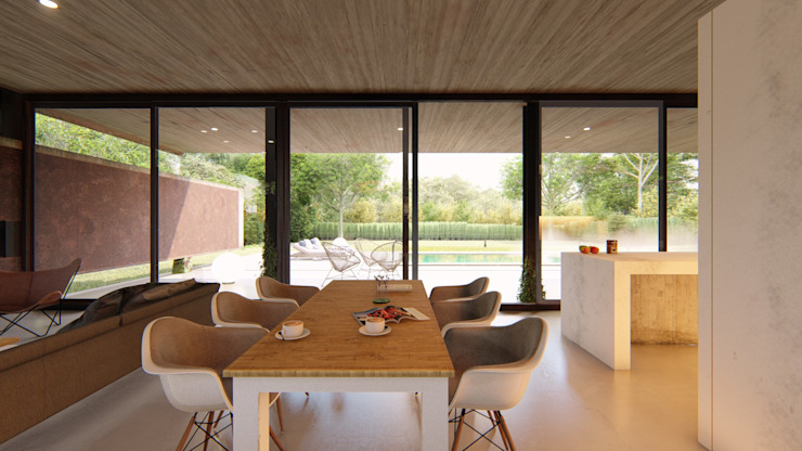 Dining room by Arq Olivares,