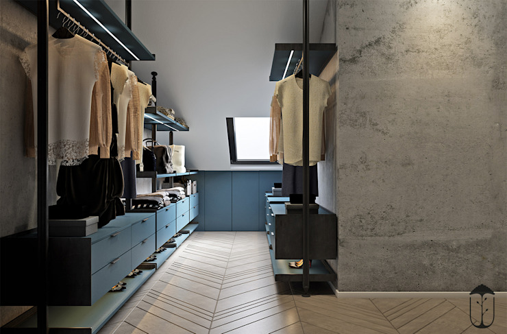 Minimalist dressing room by U-Style design studio Minimalist