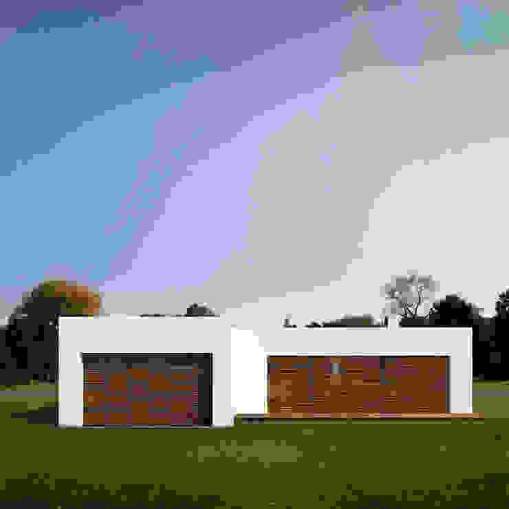 Fachada Casa Santander de Punto De Fuga Arquitectura Moderno Ladrillos