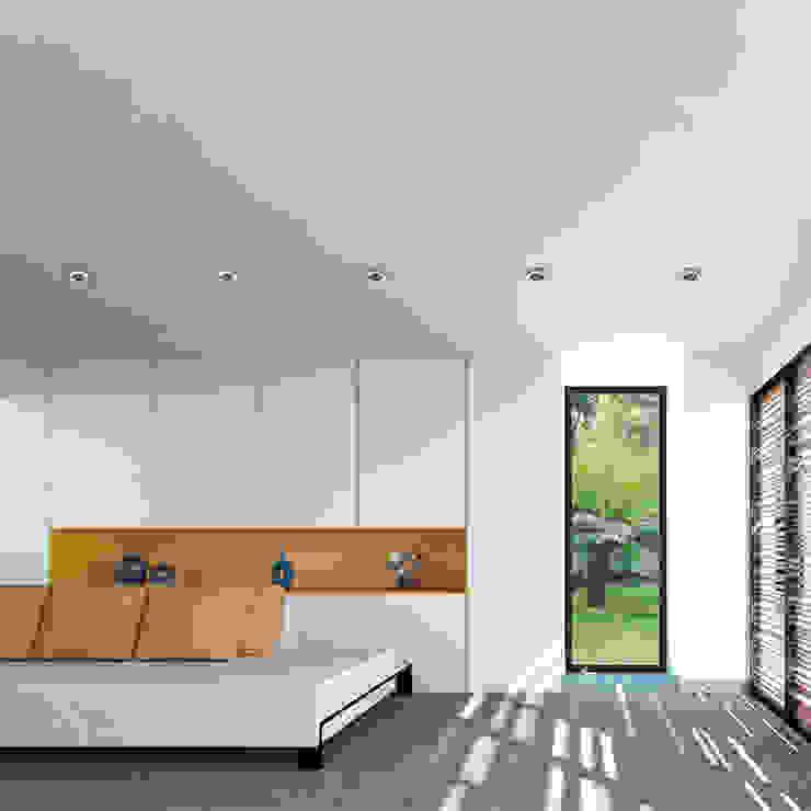 interior Casa Santander Salas modernas de Punto De Fuga Arquitectura Moderno Ladrillos
