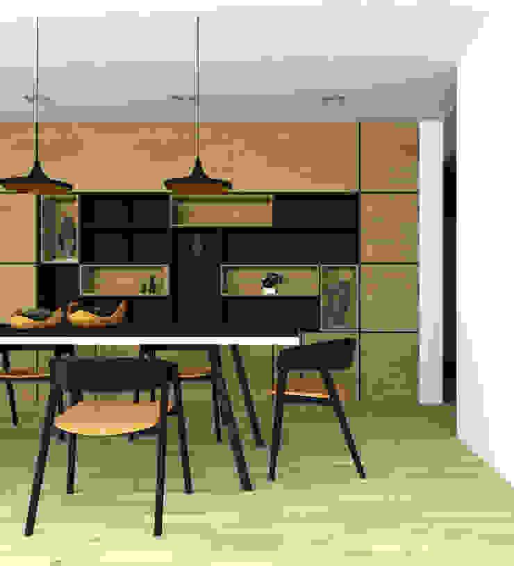 interior cocina Casa Santander Comedores de estilo moderno de Punto De Fuga Arquitectura Moderno Madera Acabado en madera