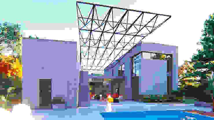VIVIENDA UNIFAMILIAR Lomas de City Bell #251 Casas modernas: Ideas, imágenes y decoración de Arq Olivares Moderno Hormigón