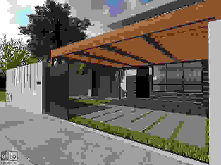 Residência MN Alto Arquitetos Garagens e edículas modernas