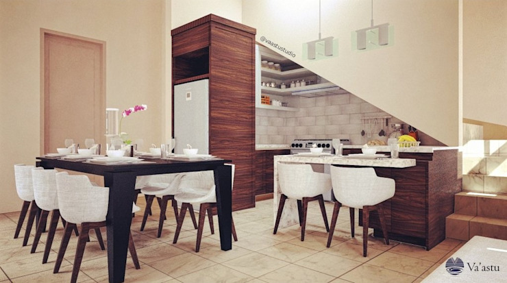 Dining & Kitchen Oleh Vaastu Arsitektur Studio Modern