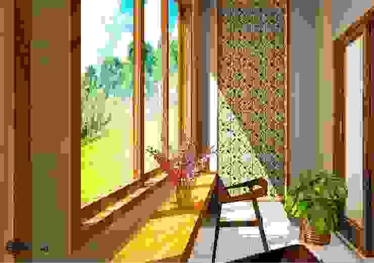 Balkon Balkon, Beranda & Teras Gaya Eklektik Oleh Vaastu Arsitektur Studio Eklektik
