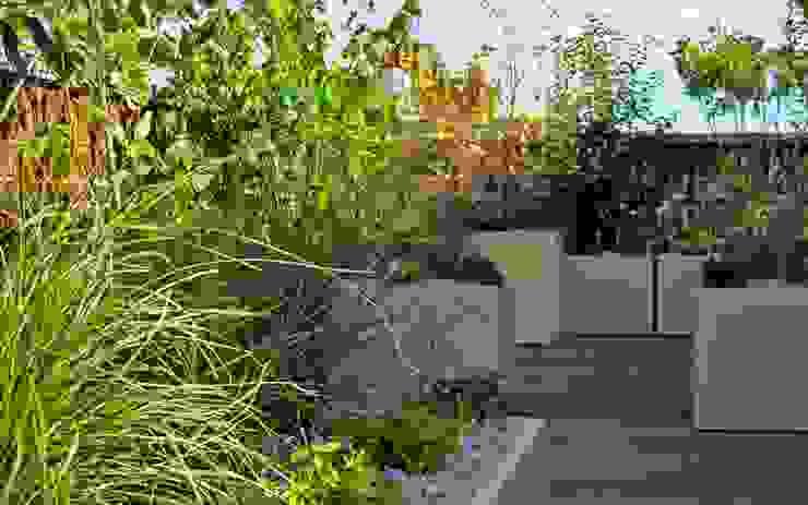 Lushly planted new roof terrace EC1N MyLandscapes Garden Design Atap